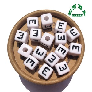 Image 2 - Beads for Jewelry Making Letter Beads 10mm 550pcs A Z Separate Alphabet Beads White Beads Square Beads for Kids Acrylic Beads