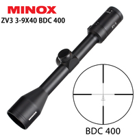MINOX ZV 3 3 9X40 BDC 400 Reticle Hunting Rifle Scope 1 Inch Tube Long Eye Relief Tactical Optical Sight RifleScopes