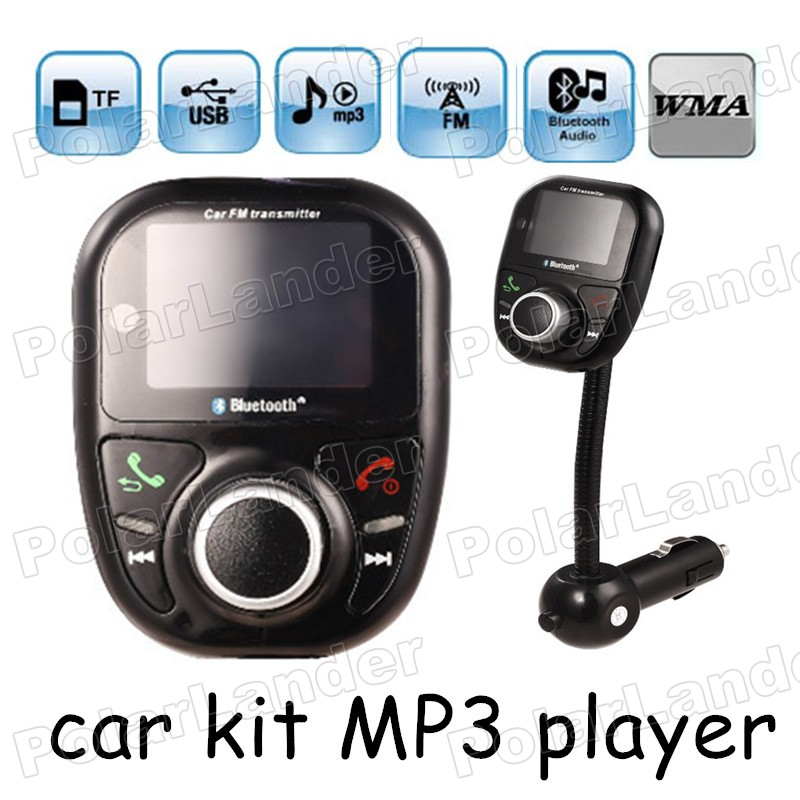 Bluetooth handsfree USB charger FM Transmitter support TF card U disk Car MP3 Player wireless FM Modulator Car Kit LCD Screen image