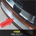 Aptos Para La Nissan X-TRAIL Rogue T32 2013-2015 2016 Exterior de Acero Inoxidable Protector Del Paragolpes Trasero Sill Umbral Placa Del Coche Styling