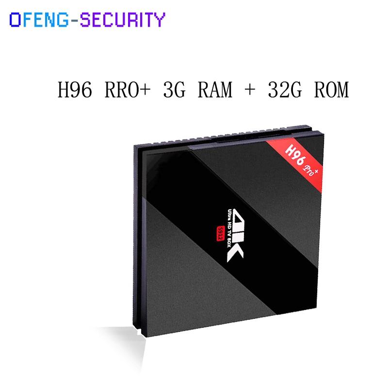 H96 Pro 3g 32g H96 PRO Plus Android 7.1 TV Box Amlogic S912 Octa Core 3G 32G 2.4GHz Wifi H.265 4K Ott Tv Box