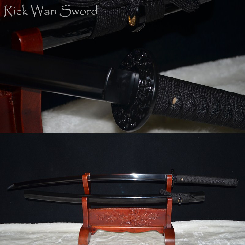 HIGH QUALITY HANDMADE Japanese samurai sword katana 1060 carbon steel black blade full tang