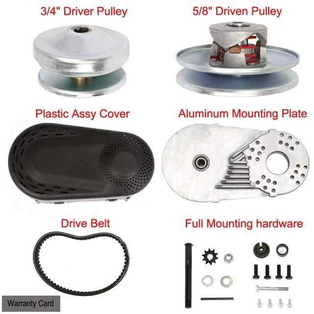 "Hot sale Go Kart Torque Converter Kit CVT Clutch 3/4""  Replaces Comet TAV2 30-75 218353A Manco 10T #40/41"