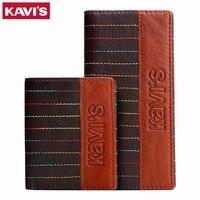 KAVIS Genuine Leather Men Wallets Long Luxury Brand New Design Brand Clutch Purse Wallet Cowhide Leather