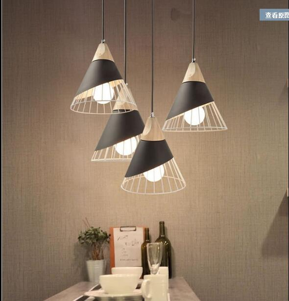 Chandelier Nordic living room bar table lamp bedside bedroom restaurant creative personality simple single head CL
