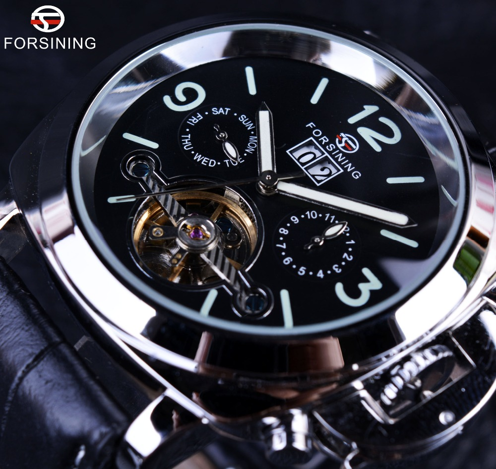 Forsining Men Watch Tourbillon Luxury Automatic Military Design Sport Top-Brand Casual