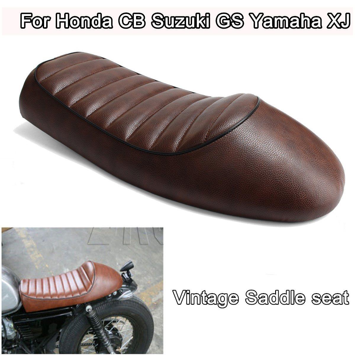 Brun Moto Café Racer Siège Vintage Selle Pour Honda CB Suzuki Pour GS Pour Yamaha XJ