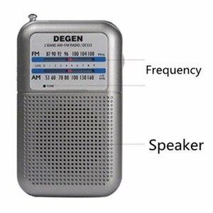 Image 4 - راديو DE333 من JINSERTA جهاز استقبال FM AM مع مقبض صغير بحجم الجيب قابل للحمل مع شريطين راديو إف إم مسجل راديو عالي الحساسية