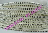 600pcs Box Cable Marker EC 3 6 0mm2 0123456789 12 Different Digital Mark Cable White Color