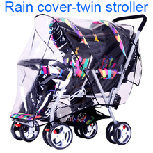 Universal Twin Baby Strolle Accessories Rain Cover Canopy Rainshed Sand prevention dust-proof cover