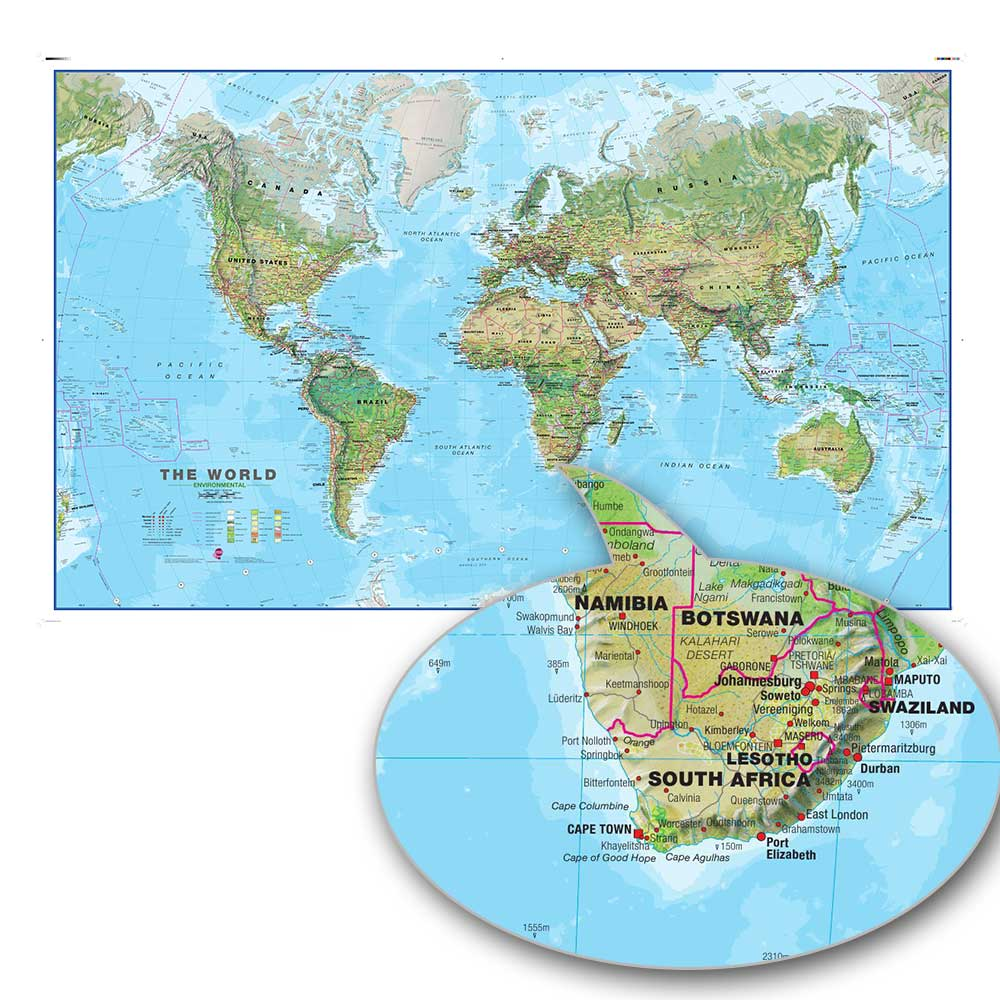 ZHUGEGE World Map Wall Decoratin Canvas Painting Poster And Custom Print Art High Quality HD Production