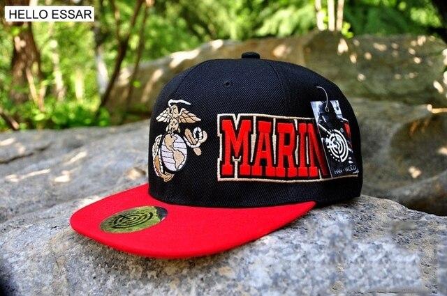 81fe5d54d9b93 NOVA moda cap Chapéu boné de beisebol dos homens snapback EUA Marine Corps  mulheres do Hip