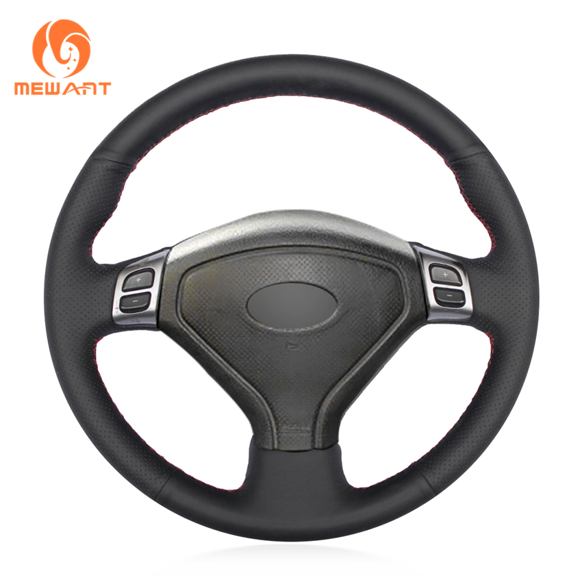 MEWANT Black Artificial Leather Car Steering Wheel Cover for Subaru Forester 2004-2006 Outback 2004 2005 Legacy 2004-2006 mewant black artificial leather car steering wheel cover for peugeot 206 1998 2005 206 sw 2003 2005 206 cc 2004 2005