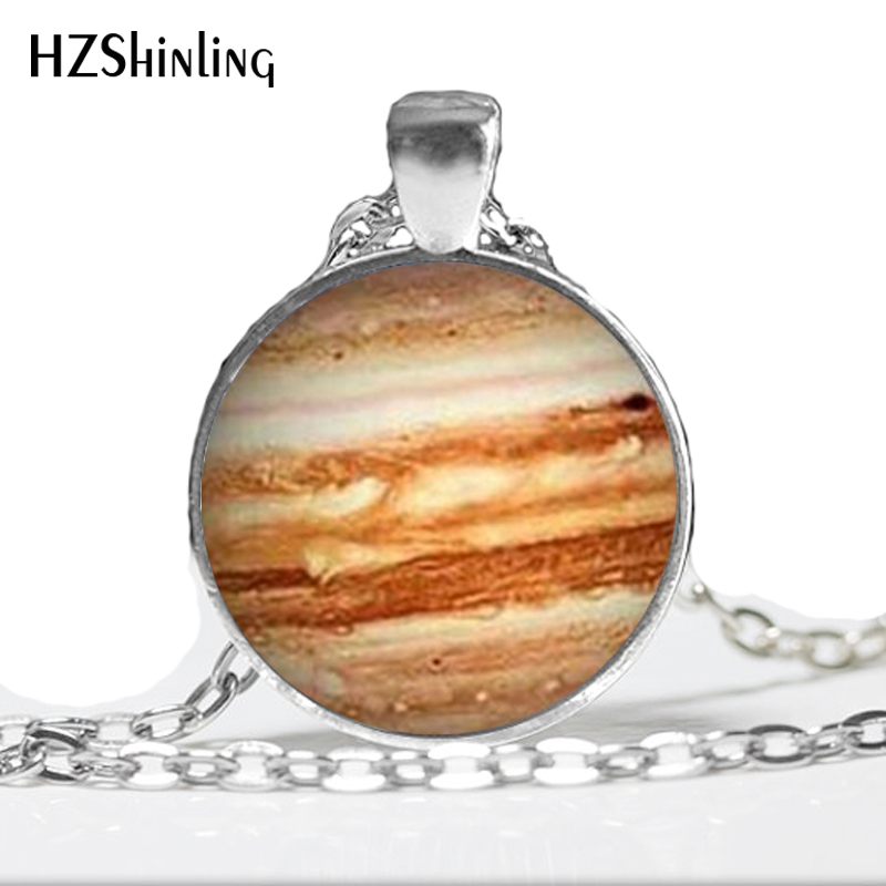 Jupiter Necklace Glass Pendant Orange Planet Pendant Science Jewelry Geek Jewelry Space Necklace A-051 HZ1 ...