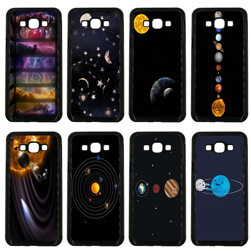 Outer Space Planet Spaceship Cell Phone Cases Hard Plastic Cover for Samsung Galaxy J1 J2 J3 J5 J7 2015 2016 2017 ON Prime Case