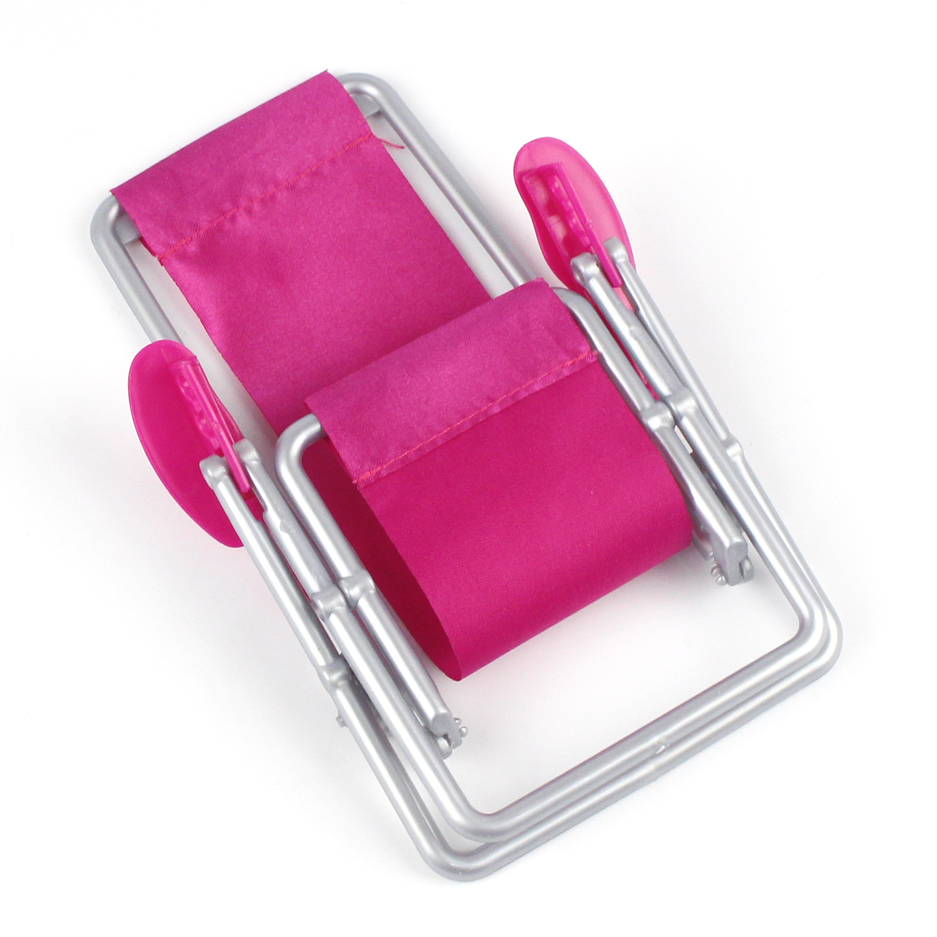 1:6 Scale Foldable Furniture Rocking Beach Chair For Baby Doll Princess Pink Rose Deckchair For Lovely Miniature Baby Dolls