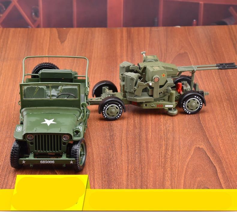 1 18 scale world war II anti aircraft alloy car toy diecast metal model 1 35