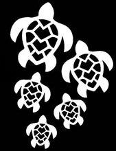 Sea Turtles Decal Vinyl Sticker|Cars Trucks Vans Walls Laptop| White |5.5 x 4 in|LLI279