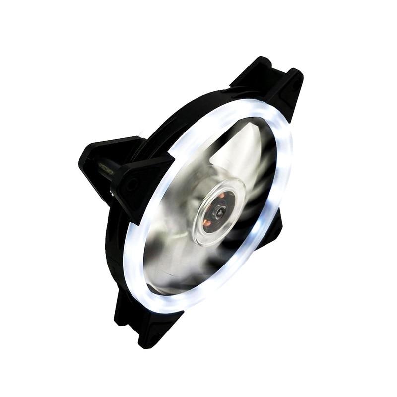 LED 120mm 52CFM De-vibration Rubber DC 12V PC Computer Cooler Cooling Fan