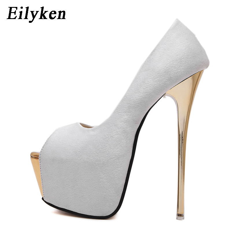 Eilyken Women Pumps high heels Womens Sexy Peep Toe Pumps Platform shoes White Black Pink Wedding Party shoes size 34-40 ladies high heels sexy rhinestones heel women s shoes vogue party peep toe platform high heels pumps wedding shoes black white