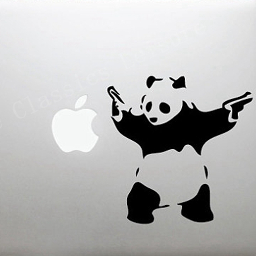 aliexpress com buy free shipping banksy panda waving hand guns aliexpress com buy free shipping banksy panda waving hand guns wall decal sticker vintage street art banksy decorative stickers for laptop wall from