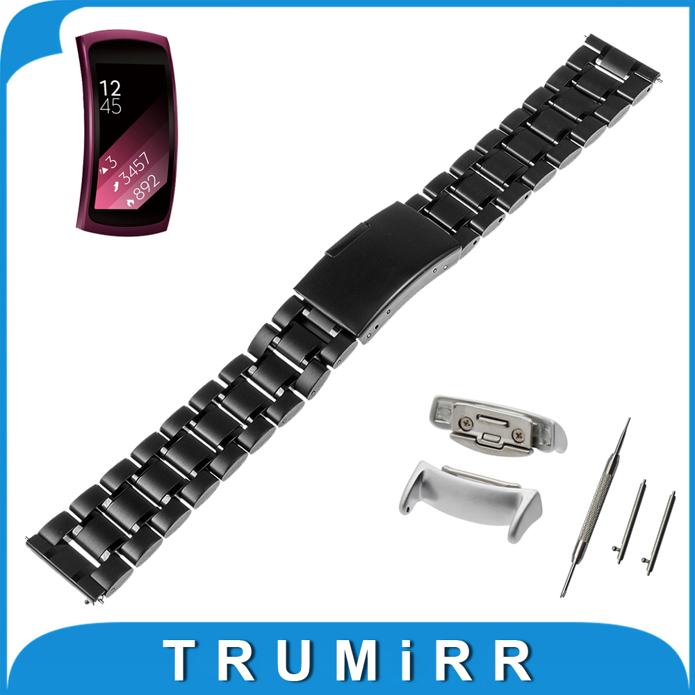 18mm Quick Release Smart Watchband + Adapters for Samsung Gear Fit 2 SM-R360 Watch Band Stainless Steel Wrist Belt Bracelet