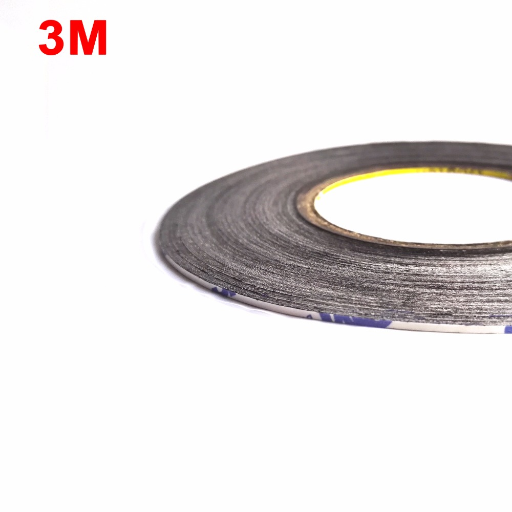 1x (2mm*50 Meters) Widely Use 3M 9448AB Black Double Sided Adhesive Tape for Smartphone
