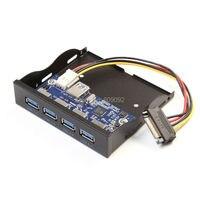 High Speed 19 20Pin 4 Port USB 3 0 Internal HUB For 3 5 PC Floppy