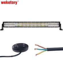 weketory 7D 15LED DRL 32 inch 300W LED Work Light Bar for Tractor OffRoad 4WD 4×4 Truck SUV ATV Spot Flood Combo Beam 12V 24v