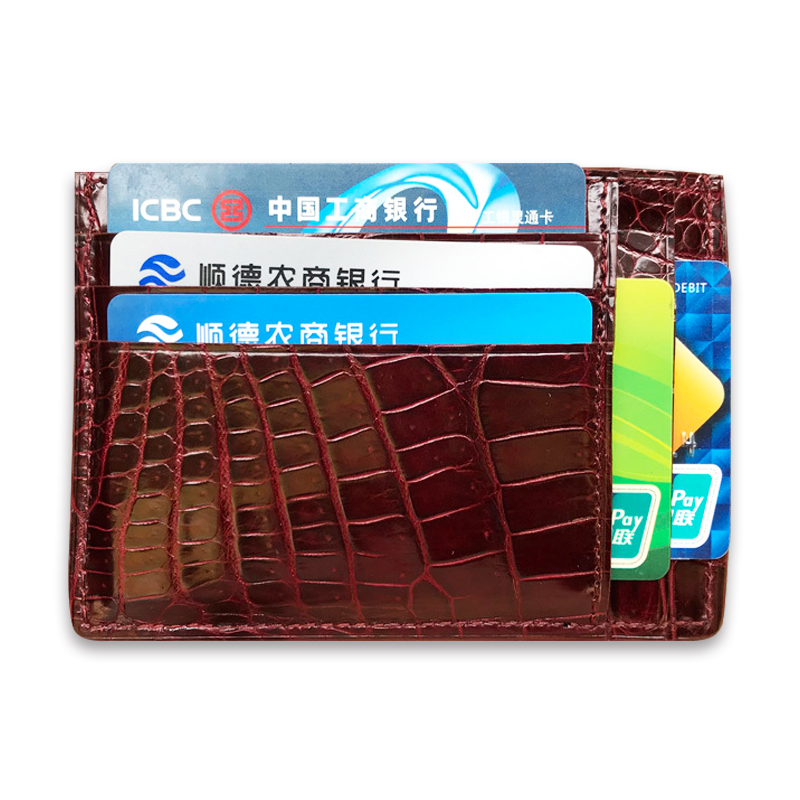 New arrivals 100 real crocodile leather card holder ultrathin genuine leather credit card case classie coin