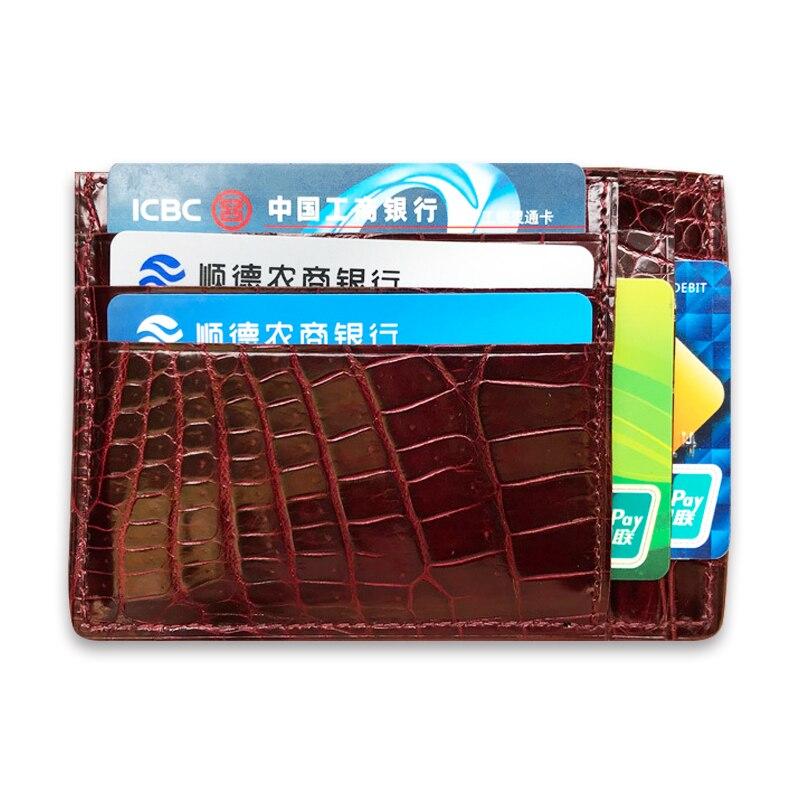 Nouveautés 100% véritable crocodile porte-cartes en cuir ultra-mince en cuir véritable étui pour cartes de crédit classie porte-monnaie