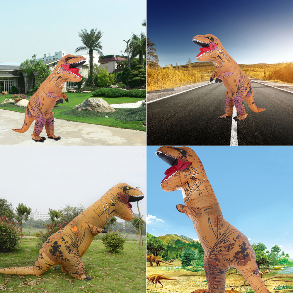 🛒 Funny Adult Inflatable Dinosaur Trex Costume Suit Air Fan