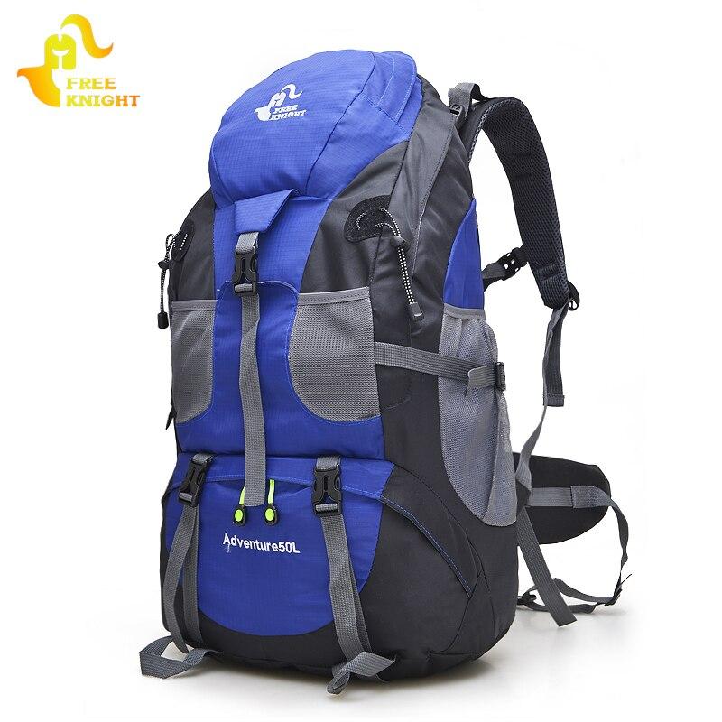 Cavaleiro livre 50l caminhadas ao ar livre mochila de viagem à prova dwaterproof água montanhismo trekking acampamento escalada sacos do esporte