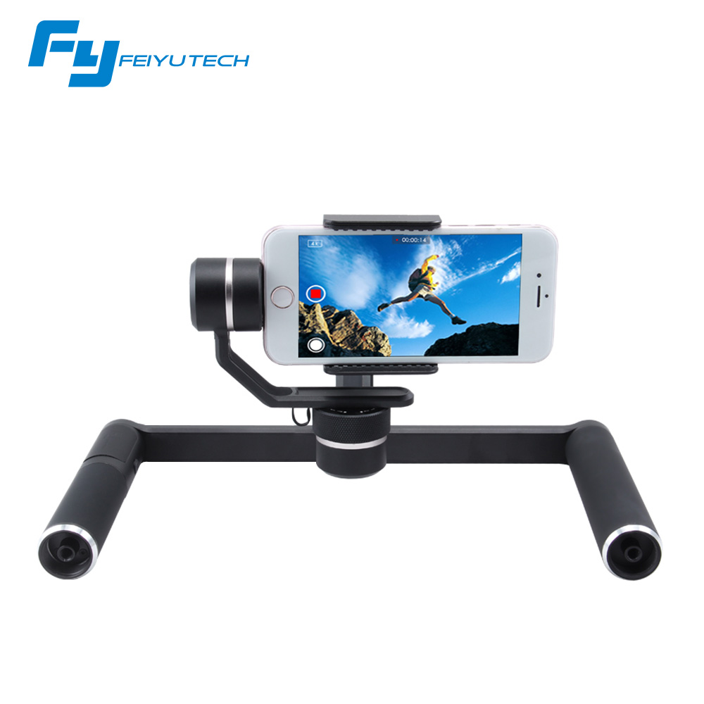 FeiyuTech SPG PLUS 3-axis handheld smartphone gimbal professional photography platform for Gopro Hero 5 4 3 xiaomi yi cam phone
