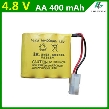 4.8 V AA 4.8V 400mAh Ni-Cd Rechargeable battery pack For Huanqi 508 611 605 550 remote control car on the 5th AA batteries image