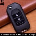 2014-2015 Для Honda FIT VEZEL XRV CITY JAZZ CIVIC HRV 2 кнопки 3 кнопки изменения Флип удаленный ключ 433 мГц с ID47 чип