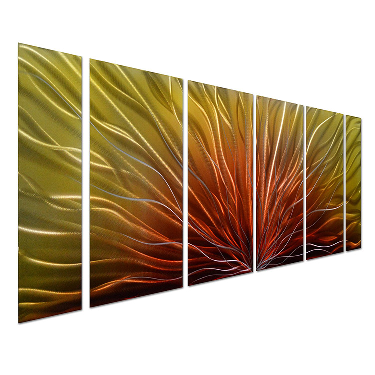 METAL WALL ART Peacock Feather