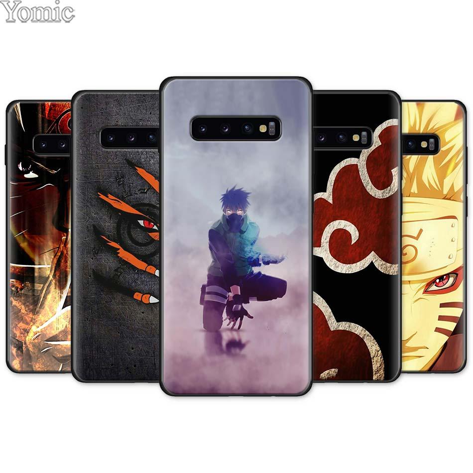 17f438332e Naruto Kakashi Japanese anime Black Silicone Case for Samsung Galaxy ...