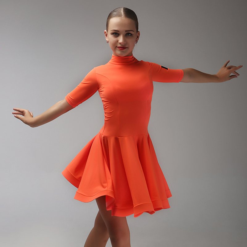 Picture of 6 Colors Kids Latin Dance Dress For Girls Modern Dance Costumes For Kids Latin Dress Girls Clothes For Dancing Rumba Samba
