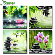 YOGOTOP Diy 5D Diamond Mosaic Diamond Painting Cross Stitch Kits stone Orchid Square Diamond Embroidery Home Decoration ZB223