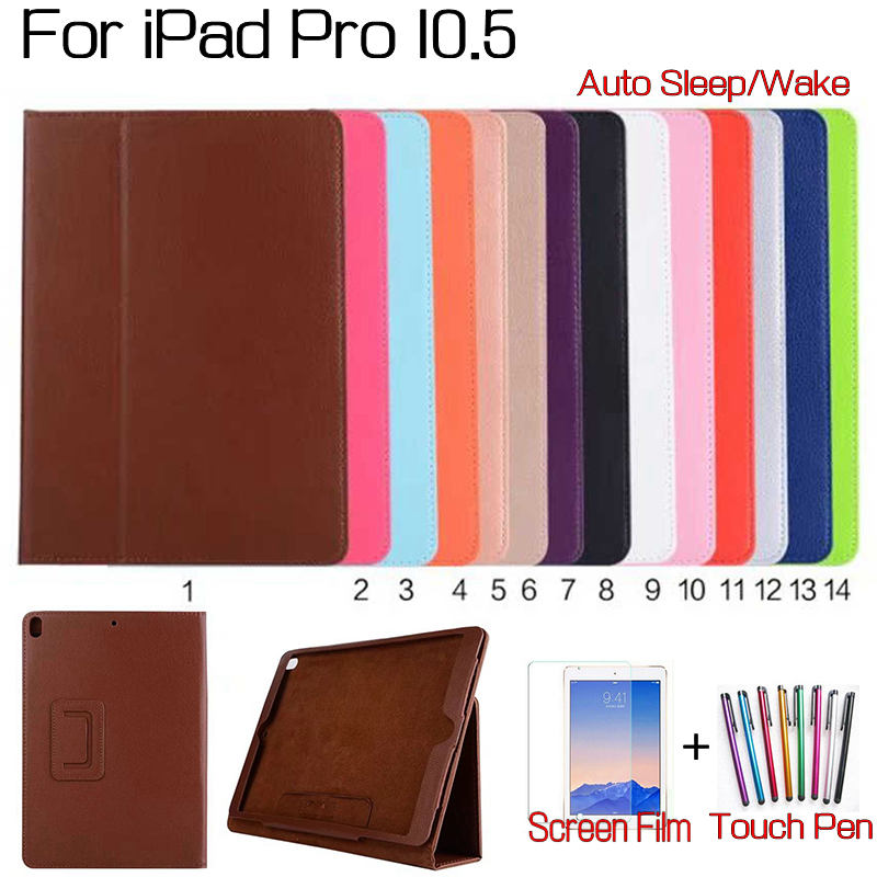 Folio Case for iPad Pro 10.5 ,AIYOO Magnetic Stand Smart PU Leather Funda Case With Auto Sleep/Wake Up+Free Screen Protector+Pen magnetic pu leather folio flip smart
