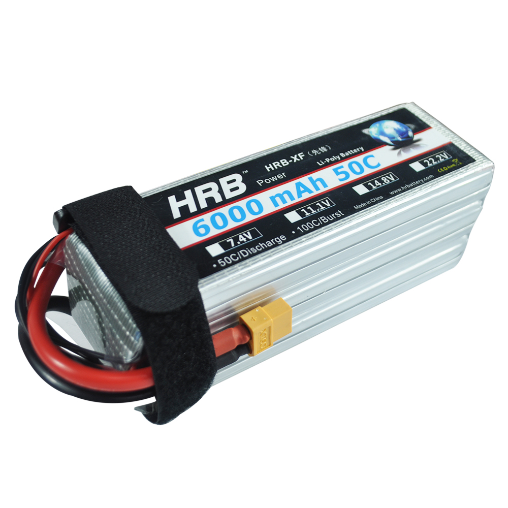 HRB Lipo Battery 6S 22.2V 6000mAh 50C XT60 XT90 EC5 T Deans TRX For Phantom RC Helicopter Airplanes Multicopter Boats Cars Parts
