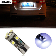 BOAOSI 1x T10 1210SMD Error free Car License Number Plate Light For Mitsubishi asx Lancer Outlander Galant Pajero