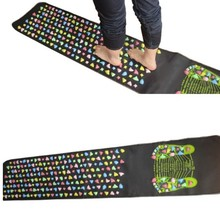 (size 170*35cm) Colorful Plastic Foot Massage Pad Chinese He