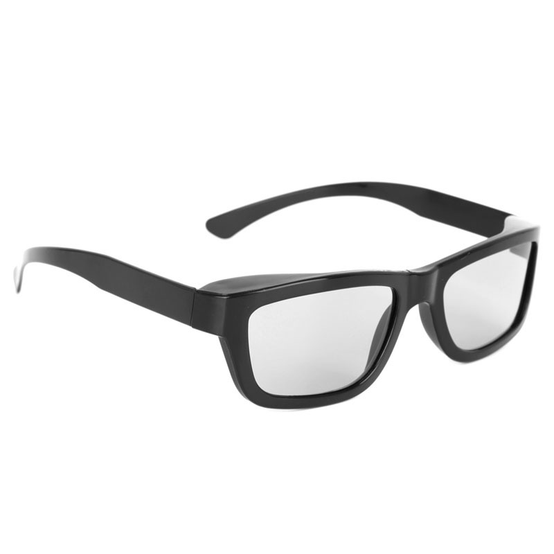 OOTDTY Circular Polarized Passive 3D Stereo Glasses Black For 3D TV Real D IMAX Cinemas