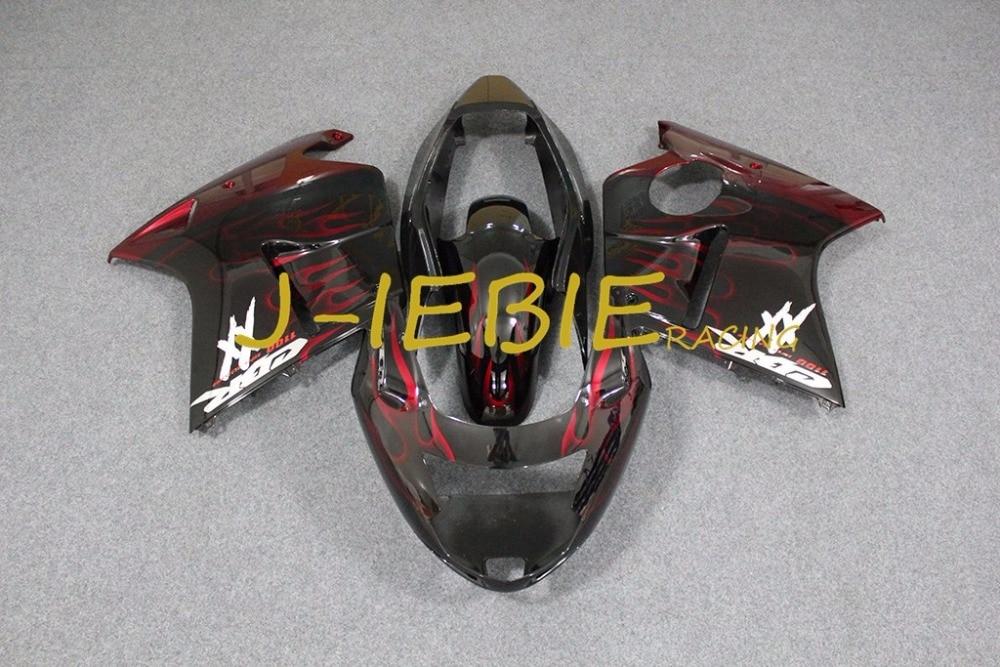 Черный красный огонь инъекции обтекателя Средства ухода за кожей работы Рамки комплект для Honda CBR1100XX CBR 1100 CBR1100 XX 1996-2007 1997 2000