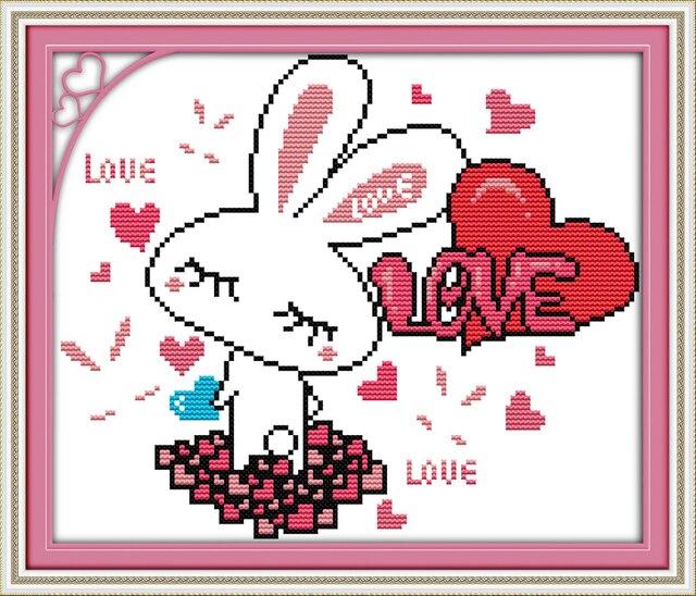 Alegría Domingo estilo de dibujos animados conejo agradable Cruz ...