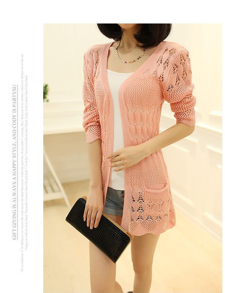 Womens Sweater Spring Jacket Loose Shawl 37