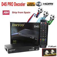 D4SPRO for Europe Digital Satellite Receiver HD 1080P Twin Tuner DVB S2 Receptor Biss Youtube IKS 2*LNB port dual tuner
