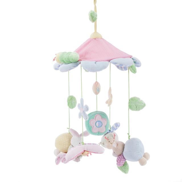 0-12 meses cama carrinho de bebê pendurar sino recheado pendurado toys presente para o bebê de pelúcia musical